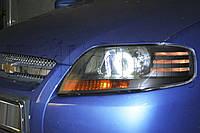 """Chevrolet AVEO - установка би-ксеноновых линз Morimoto G5 2,5"""" H1 и светодиодных """"ангельских глазок"""""""