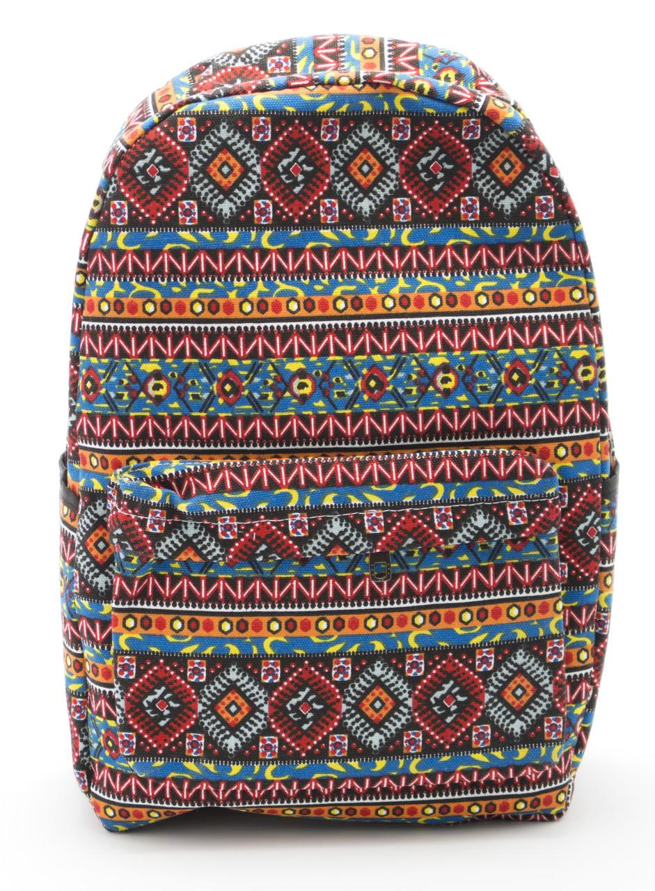 Стильная женская сумка-рюкзак с этническими узорами  Б/Н art. C-1