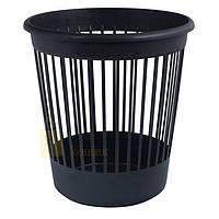 Корзина офисная Арника для бумаг 10 л., пластик, черная
