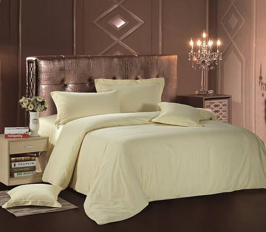 Комплект постельного белья Евро Love You Страйп-сатин 200Х220 кремовый, фото 2