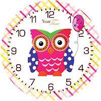 05-403/19 Часы настенные Совиная мечта Детская серия МДФ круг 25см