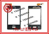 Тачскрін LG E400 Optimus L3 Чорний ОРИГІНАЛ