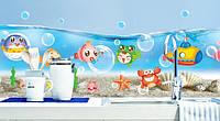 Дизайнерская наклейка Подводный мир