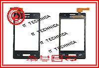 Тачскрін LG E425 Optimus L3 II Чорний ОРИГІНАЛ