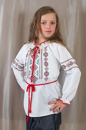 Красивая нарядная блуза вышиванка Подоляночка для девочки в школу из х/б, фото 2