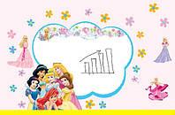 Дизайнерская наклейка Принцессы Дисней