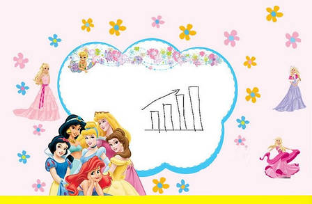 Дизайнерская наклейка Принцессы Дисней, фото 2