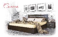 Ліжко дерев'яне букове з підйомним механізмом Селена (Щит)