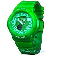 Женские спортивные часы Casio  Baby-G BGD-133 зеленые
