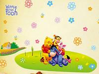 Дизайнерская наклейка Винни и друзья