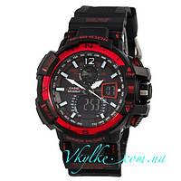 Спортивные часы  Casio G-Shock GW-A1100  черно-красные