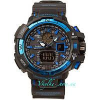 Спортивные часы  Casio G-Shock GW-A1100  черно-синие