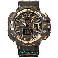 Спортивные часы  Casio G-Shock GW-A1100  черно-золотые
