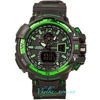 Спортивные часы  Casio G-Shock GW-A1100  черно-зеленый