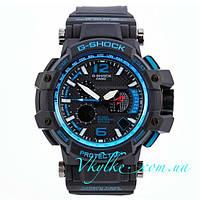 Спортивные часы Casio G-Shock GPW-1000 черные с синим