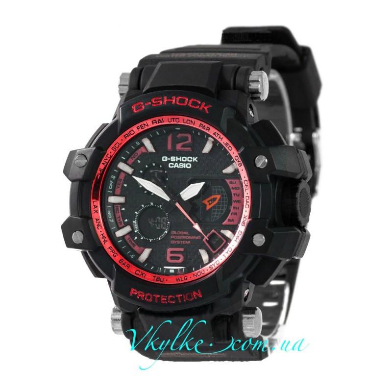 Спортивные часы Casio G-Shock GPW-1000 черные с красным