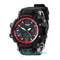 Спортивні годинник Casio G-Shock GPW-1000 чорні з червоним