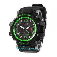Спортивные часы Casio G-Shock GPW-1000 черные с зеленым