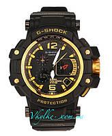 Спортивные часы Casio G-Shock GPW-1000 черные с золотом