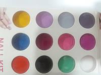Набор цветного акрила для лепки, 12 шт