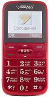 Бабушкофон Sigma mobile Comfort 50 Slim Red (красный)