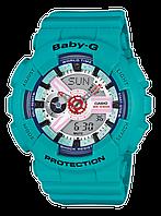 Женские спортивные часы CASIO Baby-G BA-110SN-3AER бирюзовые