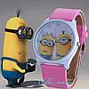 Детские часы «Миньоны» розовые