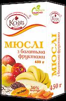 Мюсли с множеством фруктов ТМ Козуб продукт 450 г 908349