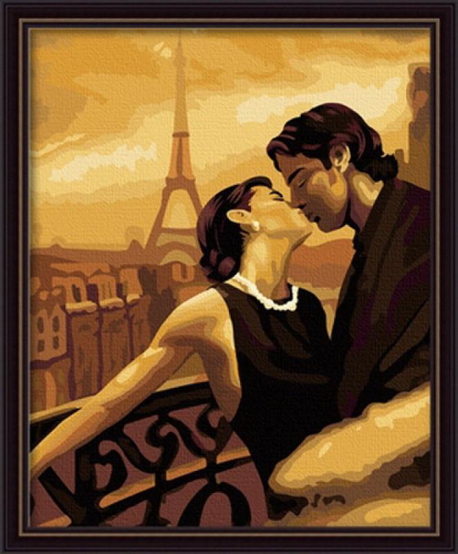 """Картина по номерам Идейка """"Мечтами в Париже"""" (KHO045) 40 х 50 см (без коробки)"""