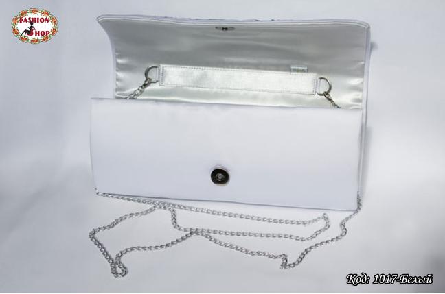Вышитый белый клатч Нежность, фото 2
