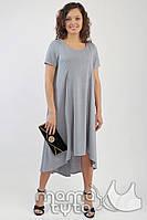 Платье летнее для будущих и кормящих мам колокольчик серый жемчуг