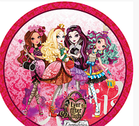 Тарелки бумажные Одноразовая Посуда для Праздника Монстер Хай (розовые)