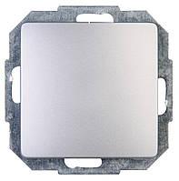 Перекрестный выключатель одноклавишный серебро