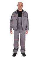 Костюм рабочий, куртка и полукомбинезон, серый