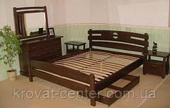 """Белая кровать """"Токио"""". Массив - сосна, ольха, береза, дуб., фото 3"""