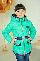 Яркая бирюзовая куртка | курточка Змейки