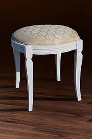 Банкетка круглая массив Бука белый ткань Avilla 2/2, 460*460*475 (Микс-Мебель ТМ)