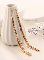 Сережки хвостик цепочки покрытие на выбор: 14К золото, 14К платина