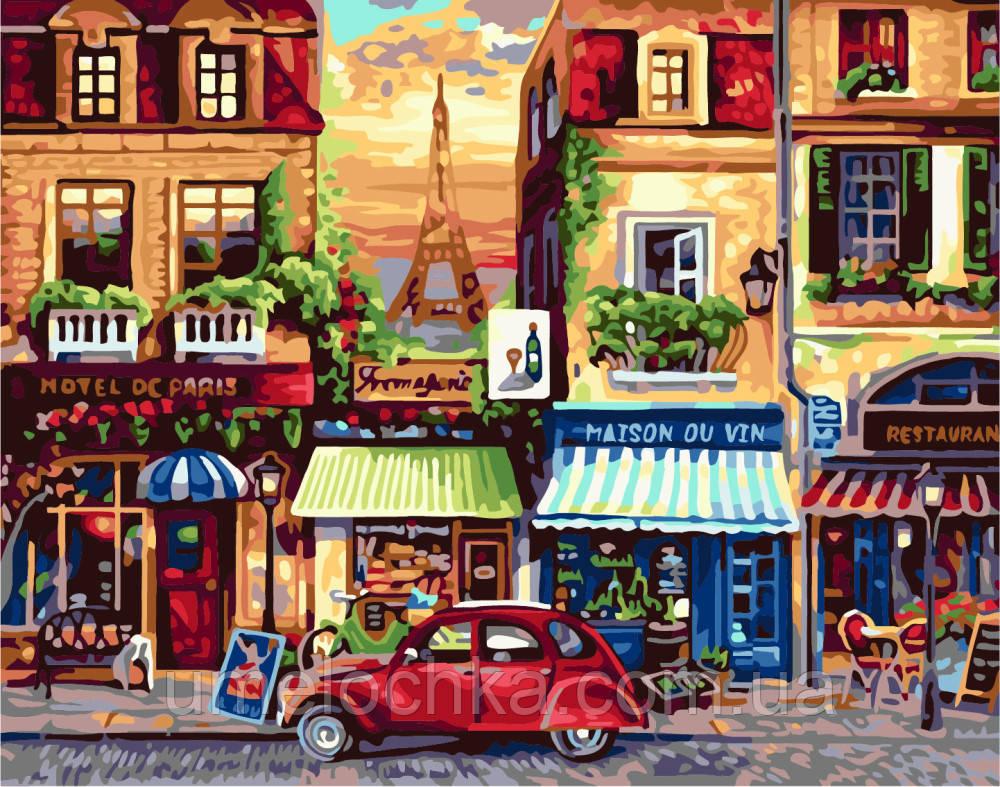Живопись по номерам без коробки Улочки Парижа (BK-GX7087) 40 х 50 см