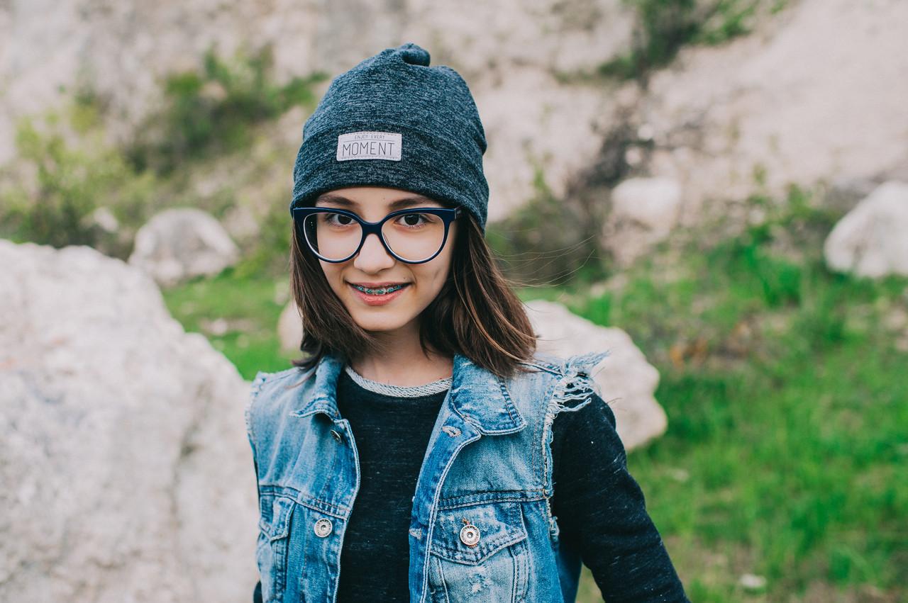 Детская шапка АПОЛО для подростков оптом р. 52-54-56