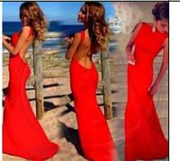 Вечернее элегантное платье с открытой спиной