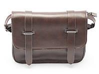 Оригинальная женская сумка-клатч в форме патронташа коричневого цвета Б/Н art. 1001