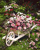 Холст по номерам без коробки Розовый куст (BK-GX8847) 40 х 50 см