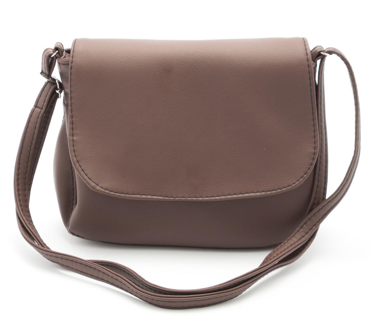 Аккуратная женская коричневая сумка почтальонка Габриэлла art. Sg Украина