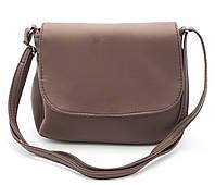 Аккуратная женская коричневая сумка почтальонка Габриэлла art. Sg Украина, фото 1