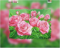 """Схема для вышивки бисером на подрамнике (холст) """"Прекрасные розовые розы-2"""""""
