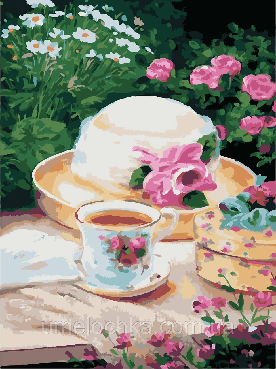 Раскраска по номерам без коробки Идейка Пикник в саду (KHO2206) 30 х 40 см