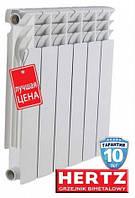 Биметаллический радиатор HERTZ 500/80 для отопления квартиры или частного дома, производство Польша