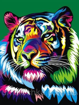 Картина по номерам Радужный тигр (VK038) 30 x 40 см