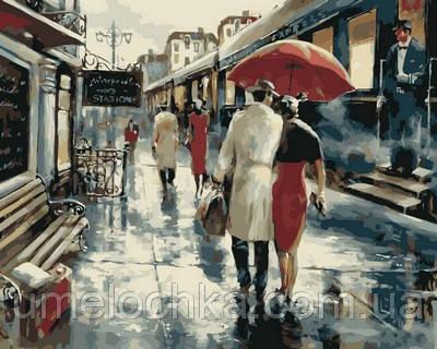 Картина по номерам Турбо Прогулка под дождем (VP563) 40 х 50 см